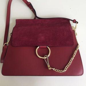 Chloe Faye bag in red